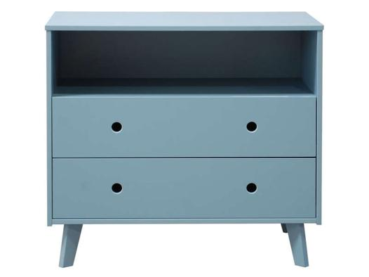 commode bleu