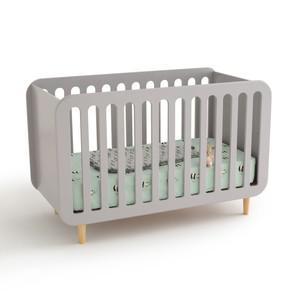 lit bebe gris