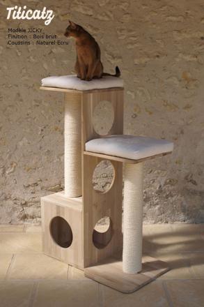 arbre a chat design bois
