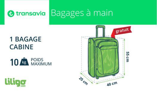 bagage à main transavia