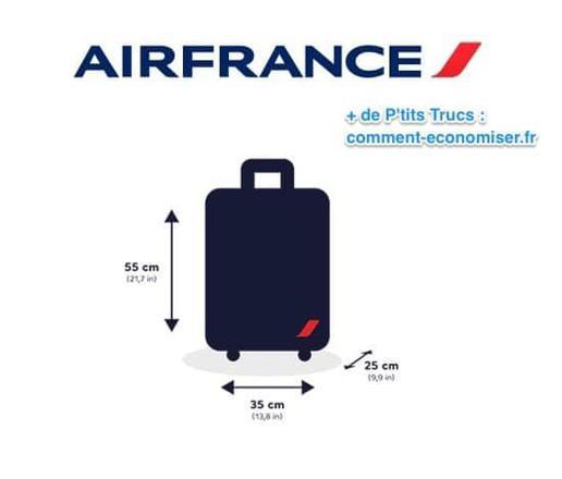 dimension bagage main air france