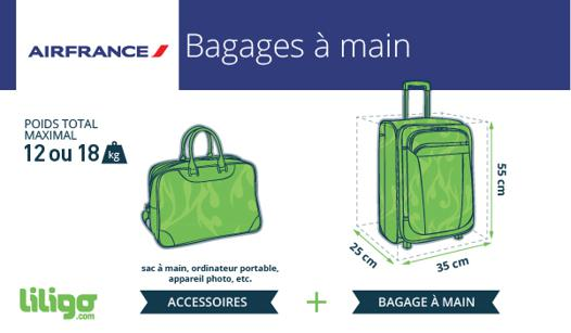format bagage cabine air france