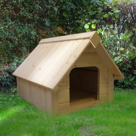 niche pour chien en bois