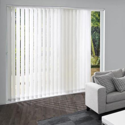 rideaux à lamelles verticales