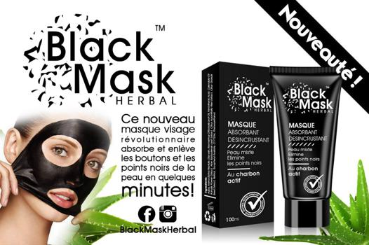 masque visage charbon