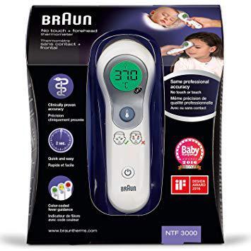 thermometre frontal braun