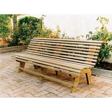 banc en bois jardin