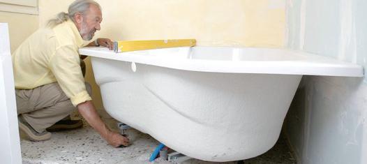 poser une baignoire